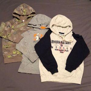 3 Boy's Hooded Sweatshirts